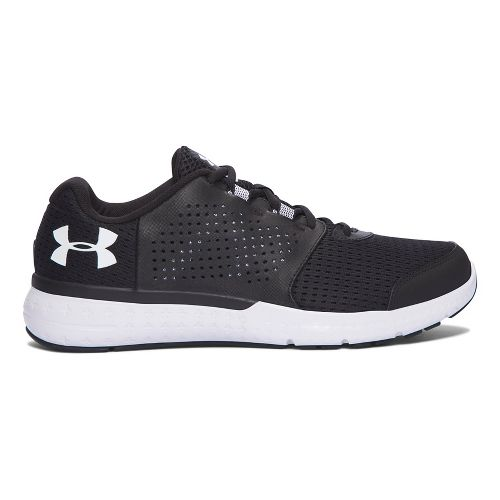 Mens Under Armour Micro G Fuel RN  Running Shoe - Black/White 7.5