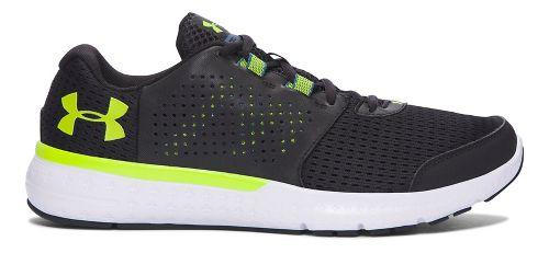 Mens Under Armour Micro G Fuel RN  Running Shoe - Black/Green 9.5