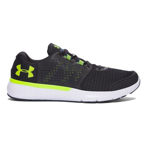 Mens Under Armour Micro G Fuel RN  Running Shoe - Black/Green 8