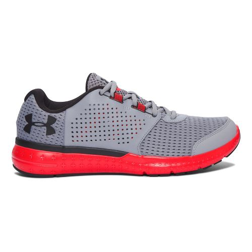 Mens Under Armour Micro G Fuel RN  Running Shoe - Grey/Red 8