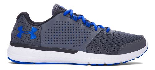 Mens Under Armour Micro G Fuel RN  Running Shoe - Grey/Blue 10.5