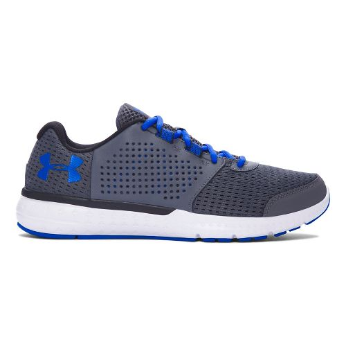 Mens Under Armour Micro G Fuel RN  Running Shoe - Grey/Blue 9