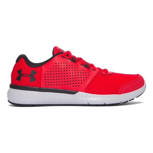 Mens Under Armour Micro G Fuel RN  Running Shoe - Red/Grey 14