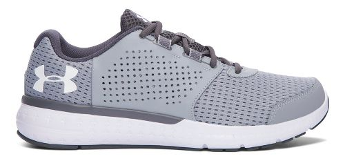 Mens Under Armour Micro G Fuel RN  Running Shoe - Grey/White 8.5