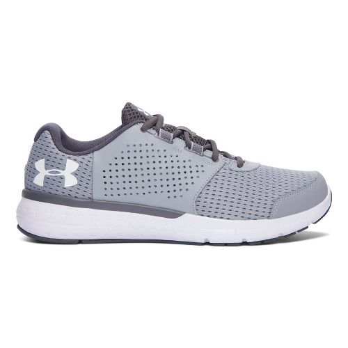 Mens Under Armour Micro G Fuel RN  Running Shoe - Grey/White 14