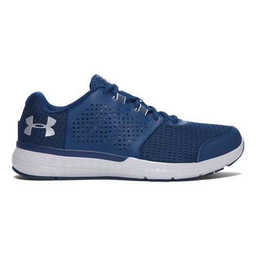 Mens Under Armour Micro G Fuel RN  Running Shoe - Navy/Grey 7.5