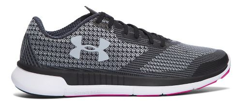 Womens Under Armour Charged Lightning  Running Shoe - Black/White 6