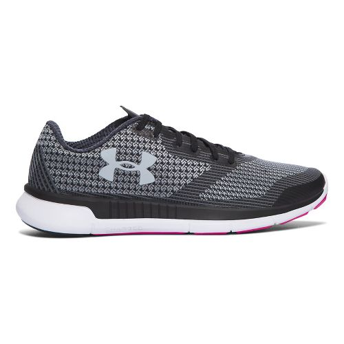 Womens Under Armour Charged Lightning  Running Shoe - Black/White 9