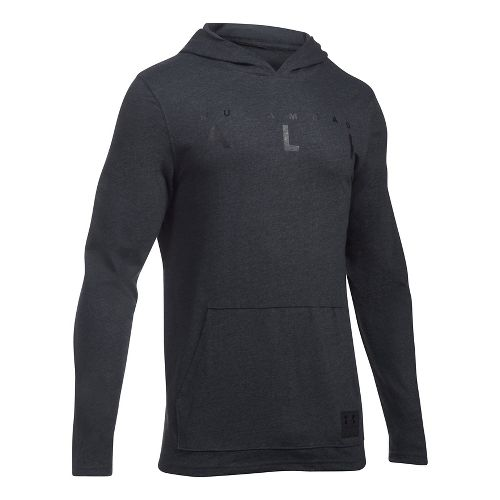 Mens Under Armour Ali Wordmark Triblend Half-Zips & Hoodies Technical Tops - Black S