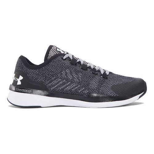 Womens Under Armour Charged Push TR HYSL Cross Training Shoe - Black 7.5