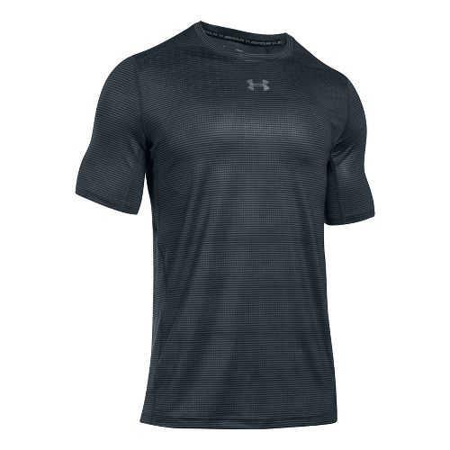 Mens Under Armour CoolSwitch 2C Short Sleeve Technical Tops - Anthracite S
