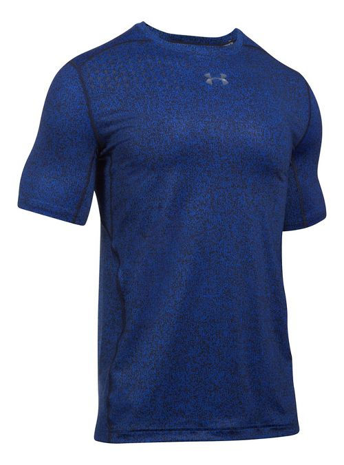 Mens Under Armour CoolSwitch 2C Short Sleeve Technical Tops - Blue Marker XL