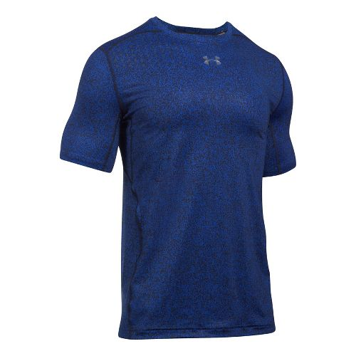 Mens Under Armour CoolSwitch 2C Short Sleeve Technical Tops - Blue Marker XXL
