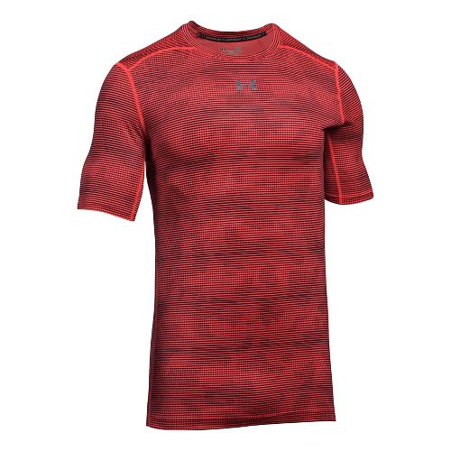 Mens Under Armour CoolSwitch 2C Short Sleeve Technical Tops - Marathon Red L