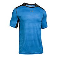 Mens Under Armour CoolSwitch 2C Short Sleeve Technical Tops - Mako Blue 3XL