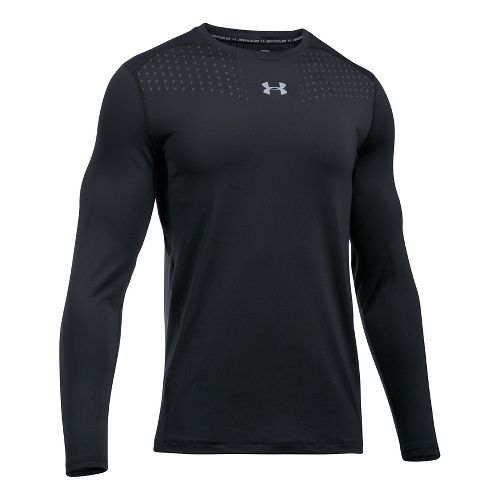 Mens Under Armour Coolswitch Long Sleeve Technical Tops - Black S