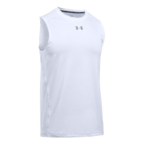 Mens Under Armour  CoolSwitch Sleeveless & Tank Tops Technical Tops - White 3XL
