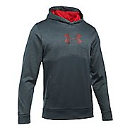 Mens Under Armour Fleece Logo Twist Half-Zips & Hoodies Technical Tops