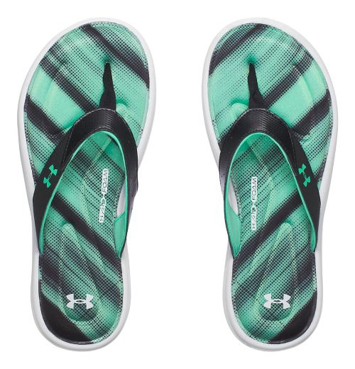 Womens Under Armour Marbella Finisher V T Sandals Shoe - Black/Green 6