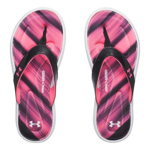 Womens Under Armour Marbella Finisher V T Sandals Shoe - Black/Pink 11
