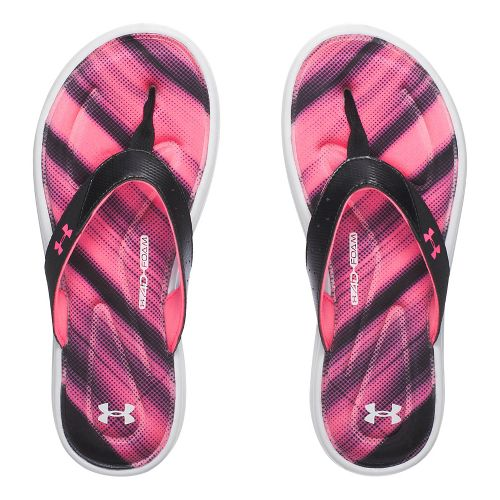 Womens Under Armour Marbella Finisher V T Sandals Shoe - Black/Pink 8