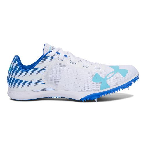 Womens Under Armour Kick Distance Spike Track and Field Shoe - White 6.5