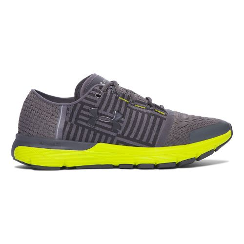 Mens Under Armour Speedform Gemini 3  Running Shoe - Grey/Yellow 14