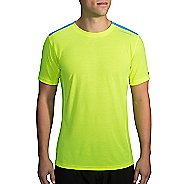 Mens Brooks Distance Printed Short Sleeve Technical Tops