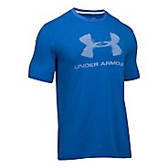 Mens Under Armour Chalked Sportstyle Logo Short Sleeve Technical Tops