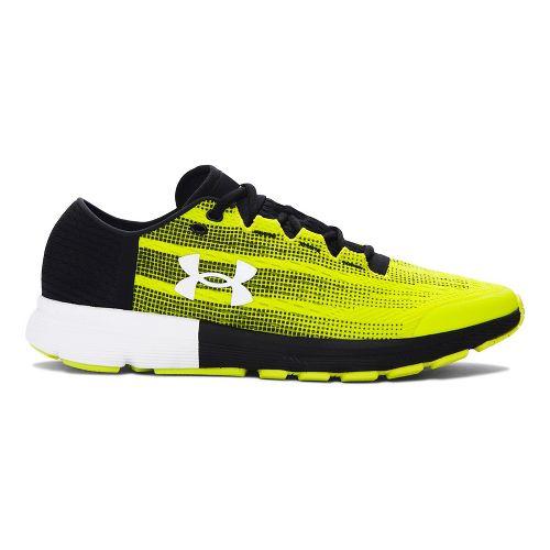 Mens Under Armour Speedform Velociti  Running Shoe - Yellow/Black 10.5