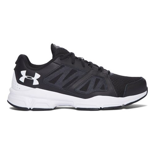Mens Under Armour Zone 2 Cross Training Shoe - Black/White 9.5