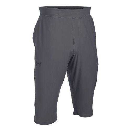 Mens Under Armour Elevated Half Crop Pants - Rhino Grey M