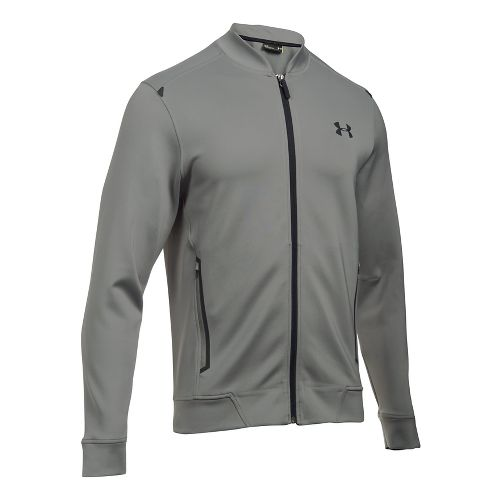 Mens Under Armour Elevated Bomber Casual Jackets - Tan Stone M