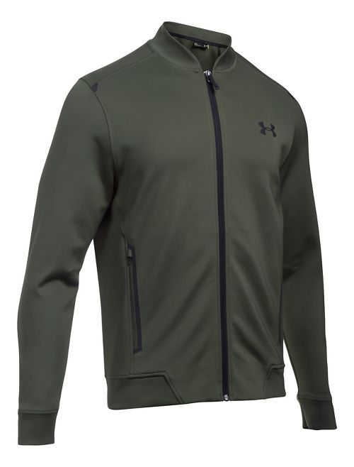 Mens Under Armour Elevated Bomber Casual Jackets - Downtown Green M