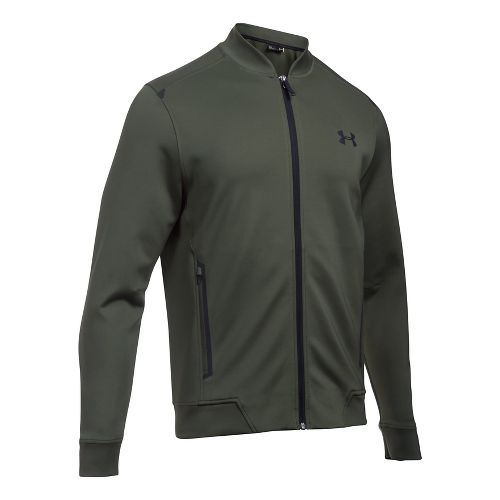 Mens Under Armour Elevated Bomber Casual Jackets - Downtown Green L