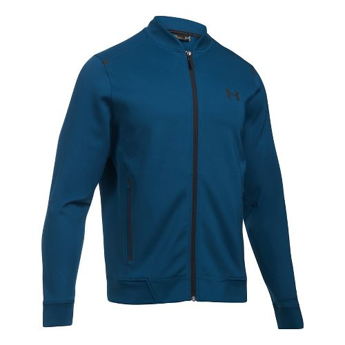 Mens Under Armour Elevated Bomber Casual Jackets - Blackout Navy XXL