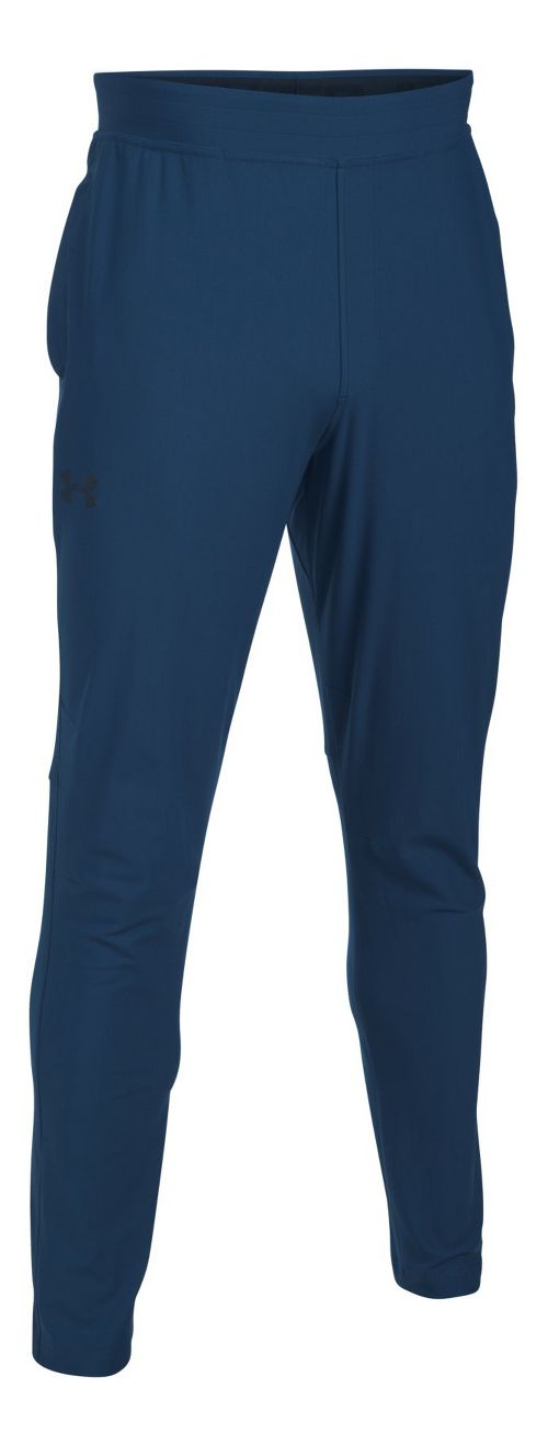 Mens Under Armour Elevated Knit Pants - Blackout Navy L