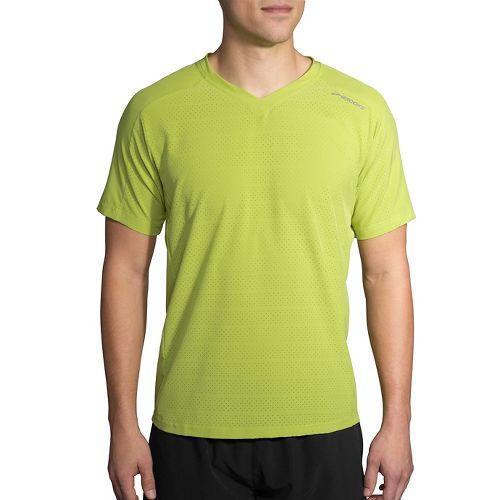 Mens Brooks Fremont Short Sleeve Technical Tops - Grove L