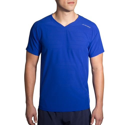 Mens Brooks Fremont Short Sleeve Technical Tops - Cobalt M