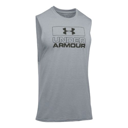 Mens Under Armour Graphic Muscle Tee Sleeveless & Tank Tops Technical Tops - True Grey ...