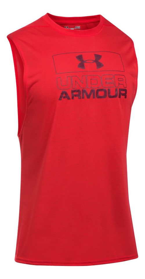 Mens Under Armour Graphic Muscle Tee Sleeveless & Tank Tops Technical Tops - Black M