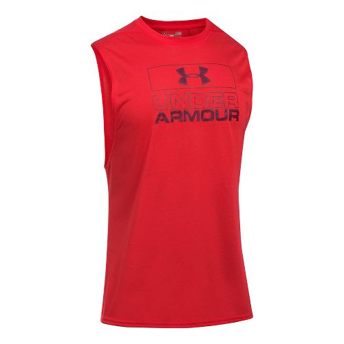 Mens Under Armour Graphic Muscle Tee Sleeveless & Tank Tops Technical Tops - Red L