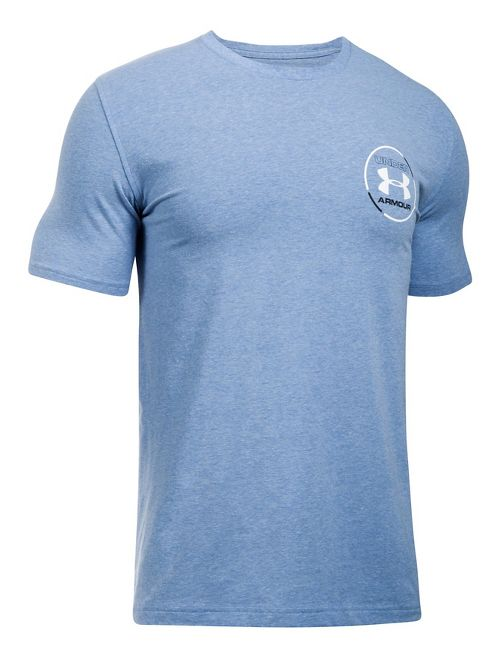 Mens Under Armour Mantra Short Sleeve Technical Tops - Blue Heather XL