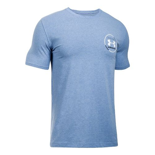 Mens Under Armour Mantra Short Sleeve Technical Tops - Blue Heather M