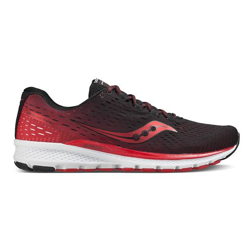Mens Saucony Breakthru 3 Running Shoe - Black/Red 12.5