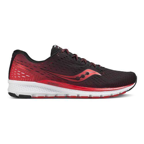 Mens Saucony Breakthru 3 Running Shoe - Black/Red 7.5