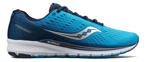 Mens Saucony Breakthru 3 Running Shoe - Blue/Navy 10.5