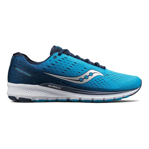 Mens Saucony Breakthru 3 Running Shoe - Blue/Navy 8.5