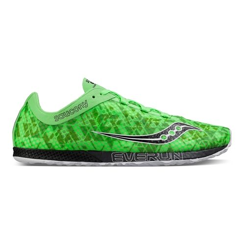 Mens Saucony Endorphin Racer 2 Racing Shoe - Slime Black 11.5