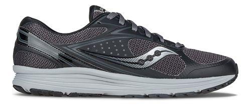 Mens Saucony Seeker Running Shoe - Black/Grey 9